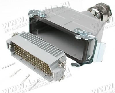 Фото1 H-1..CMT.. Разъем Нarting, штекер, кабельный ответный, соединение кабель-кабель (комплект + запасные