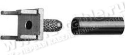 Фото1 H01000A01.7 Кабельный порт, коаксиальный, установка на печатную плату, пайка/обжим