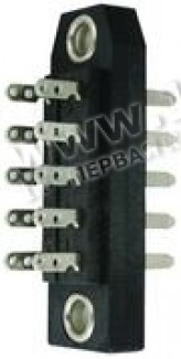 Фото1 J0004.A090. Прямоугольный многоконтактный разъем DIN 41 618, симметричное расположение контактов