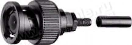 Фото1 J01000.. Разъём BNC кабельный, штекер, доп.фиксация- гайка, обжим, 50 Ом