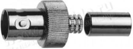 Фото1 J01001A12.. Разъём BNC кабельный, гнездо, обжим, 50 Ом