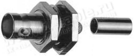 Фото1 J01003A1.. Разъём BNC кабельный/панельный, гнездо, обжим, 75 Ом