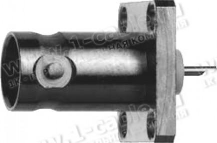 Фото1 J01003A1.. Разъём BNC панельный, компактный с 4 крепежными отверстиями, пайка, 75 Ом