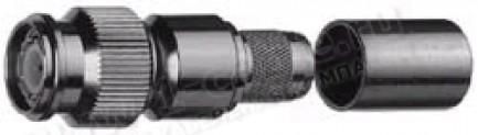 Фото1 J01010A00.. Разъём TNC кабельный, штекер усиленный, обжим, 50 Ом