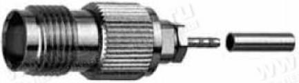 Фото1 J01011A00.. Разъём TNC кабельный, гнездо, доп.фиксация ц.проводника, обжим, 50 Ом