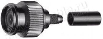 Фото1 J01012A22.. Разъём TNC кабельный, штекер, обжим, 75 Ом