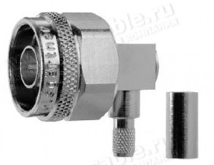 Фото1 J01020.00.. Разъем N кабельный, штекер угловой, обжим, ц.контакт- пайка, 50 Ом
