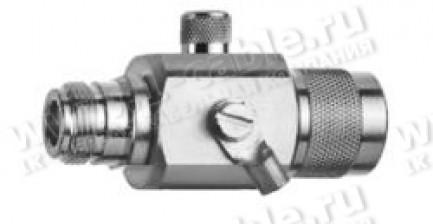Фото1 J01028.00.. Грозоразрядное устройство с газовой капсулой, штекер-гнездо, N, 50 Ом, IP67