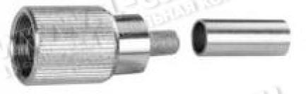 Фото1 J01071.200. Разъём 1.6/5.6 кабельный, штекер, обжим, 75 Ом