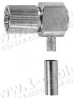 Фото1 J01071.200. Разъём 1.6/5.6 кабельный, штекер, обжим, угловой, 75 Ом