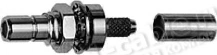 Фото1 J01160A03.. Разъём SMB кабельный/панельный, штекер, обжим, 50 Ом
