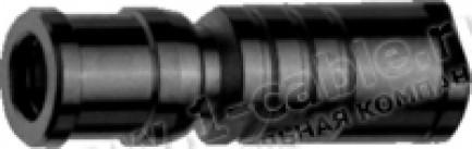 Фото1 J01161A0741 Разъём SMB кабельный, гнездо, муфта- закрутка, 50 Ом