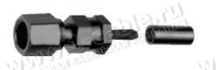 Фото1 J01171A00.1 Разъём SMC кабельный, гнездо, обжим, ц.контакт- пайка, 50 Ом