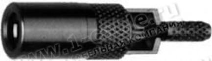 Фото1 J01191A00.1 Разъём SSMB кабельный, гнездо, обжим, ц.контакт- пайка, 50 Ом