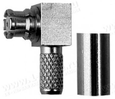 Фото1 J01391A00.1 Разъем SMP кабельный, угловой, гнездо, ц.контакт- пайка, экран- обжим, 50 Ом