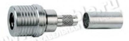 Фото1 J01420A00.5 Разъём QLS кабельный с автоматическим замком-фиксатором, штекер, обжим, ц. контакт- пайк