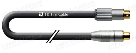 Фото1 1K-VIC11-... Видеокабель переходной: S-Video (miniDIN4 штекер) > Video CST (RCA гнездо), 75 Ом