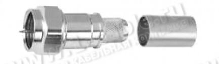 Фото1 J01600A001. Разъем F, кабельный, штекер с центр.контактом и диэлектриком, обжим