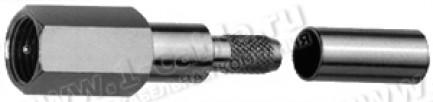 Фото1 J01700A001. Разъем FME кабельный, Standart, штекер, обжим