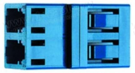 Фото1 J08071A0002 Оптический адаптер дуплексный панельный серии LC, проходной