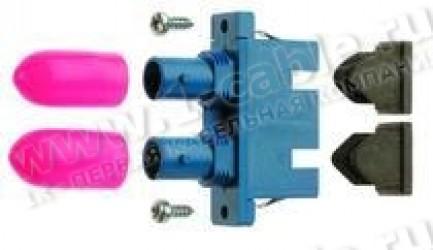 Фото1 J08082A000. Оптический адаптер панельный дуплексный переходной ST/SC, проходной