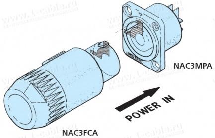 Фото2 NAC3FCA.. Кабельный разъем powerCON А-тип, power IN System
