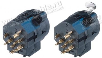 Фото1 NCJ9FI-S. Разъем Combo (XLR3 + Jack 6.3 стерео) панельный, с нормализацией, под пайку кабеля
