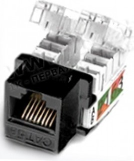 Фото1 RJ45-MP8(8P)-F-.. Разъем RJ45, панельная вставка Keystone, категория 5e, dual IDC