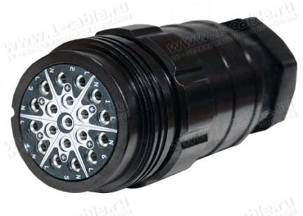 Фото1 SHLB19-LF-.-M40-S-014-S Разъем кабельный (стандарт Socapex), серия ShowLine, гнездо, класс защиты IP