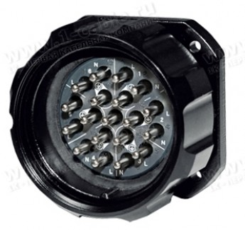 Фото1 SHLB19-PM-.-S Разъем панельный (стандарт Socapex), серия ShowLine, штекер, класс защиты IP67