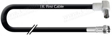 Фото1 1K-VT37-1. Кабель Антенный 75 Ом, F штекер > IEC штекер