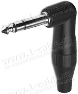 Фото1 TS3RB.. Jack Phono 6.3мм стерео штекер, угловой, T-серия