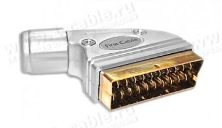 """Фото1 AC-SCART-A - SCART штекер, серия """"Reference Line"""", пайка, корпус- литой металл, на кабель диам. до 1"""