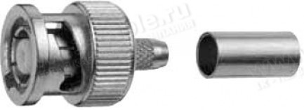 Фото1 J01000R0000 - Разъём R-BNC (корпус-штекер, ц.контакт- гнездо) кабельный, обжим, 50 Ом