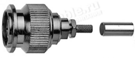 Фото1 J01012A5032 - Разъём TNC кабельный, штекер, обжим, 75 Ом