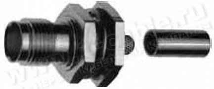 Фото1 J01011R0000 - Разъём R-TNC (корпус- гнездо, ц.контакт- штекер) кабельный/панельный, обжим, 50 Ом