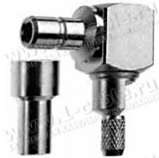 Фото1 J01160A0281 - Разъём SMB кабельный, штекер угловой, обжим, ц.контакт- пайка, 50 Ом