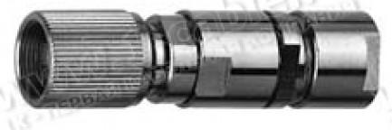 Фото1 V-1.6-10P61-75 - Разъём 1.6/5.6 кабельный, штекер, муфта- закрутка, 75 Ом
