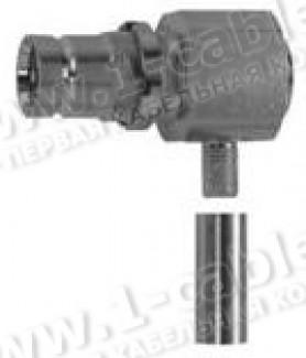 Фото1 J01073G2001 - Разъём 1.6/5.6 кабельный/панельный, угловой, гнездо, обжим, ц.контакт- пайка, 75 Ом