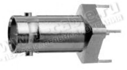 Фото1 J01001A1945 - Разъём BNC для вертикальной установки на печатную плату, гнездо, пайка, 50 Ом