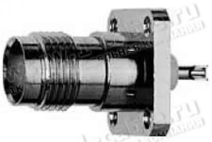 Фото1 J01011F0613 - Разъём TNC панельный, гнездо, пайка, квадратный фланец, крепление 4 отверстия, 50 Ом