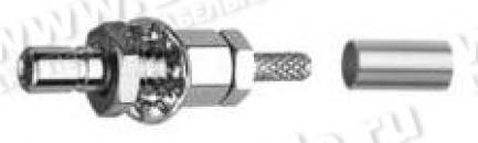 Фото1 J01190A0101 - Разъём SSMB штекер, панельный, крепление - гайка, прямой угол, 50 Ом