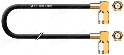 Фото1 1K-VX41-... Кабель коаксиальный 50 Ом, на основе RG-58, SMA штекер угловой > SMA штекер угловой