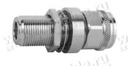 Фото1 J01028A0047 - Грозоразрядное устройство с газовой капсулой, с креплением на панель, штекер-гнездо, N