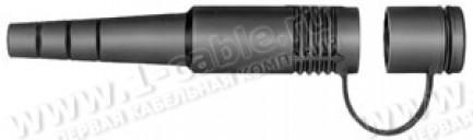 Фото1 FGR.085.145.EN - Колпачок защитный для установки на кабельные гнезда, с крышкой, полностью закрывает