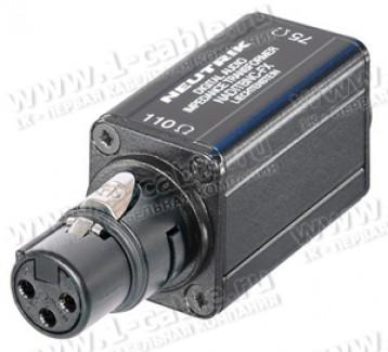 Фото1 NADITBNC-FX - Адаптер XLR3 110 Ом кабельное гнездо (вход) > BNC 75 Ом гнездо (выход)