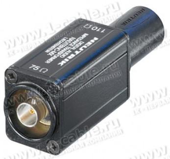 Фото1 NADITBNC-MX - Адаптер BNC 75 Ом гнездо (вход) > XLR3 110 Ом кабельный штекер (выход)