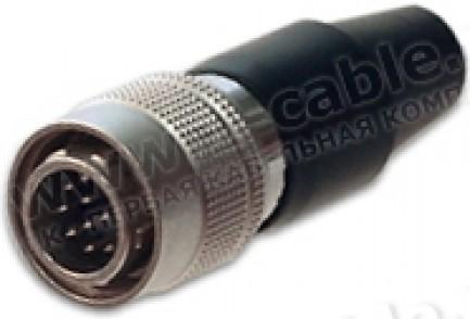 Фото2 HR10A10P10P - Разъем Hirose круглый, кабельный штекер, 10 контактов