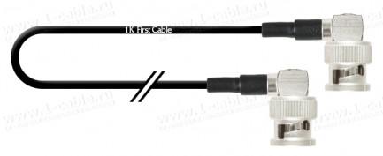 Фото1 1K-VXS8-... Кабель коаксиальный 50 Ом, компактный на основе RG-174, Basic, BNC штекер угловой > BNC