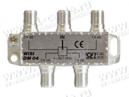 Фото1 WISI-DM04 - Делитель TV сигналов  4-862 МГц